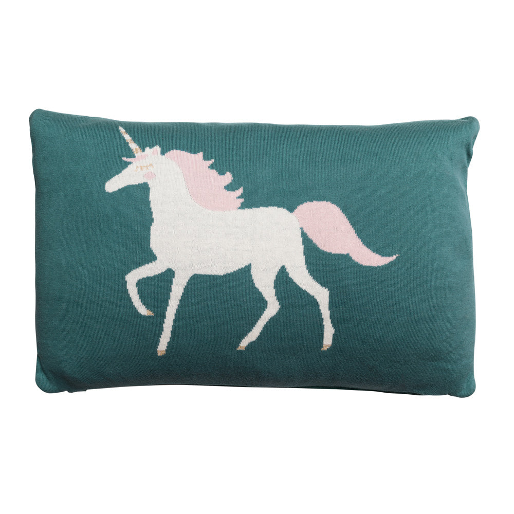 Unicorn Knitted Statement Cushion