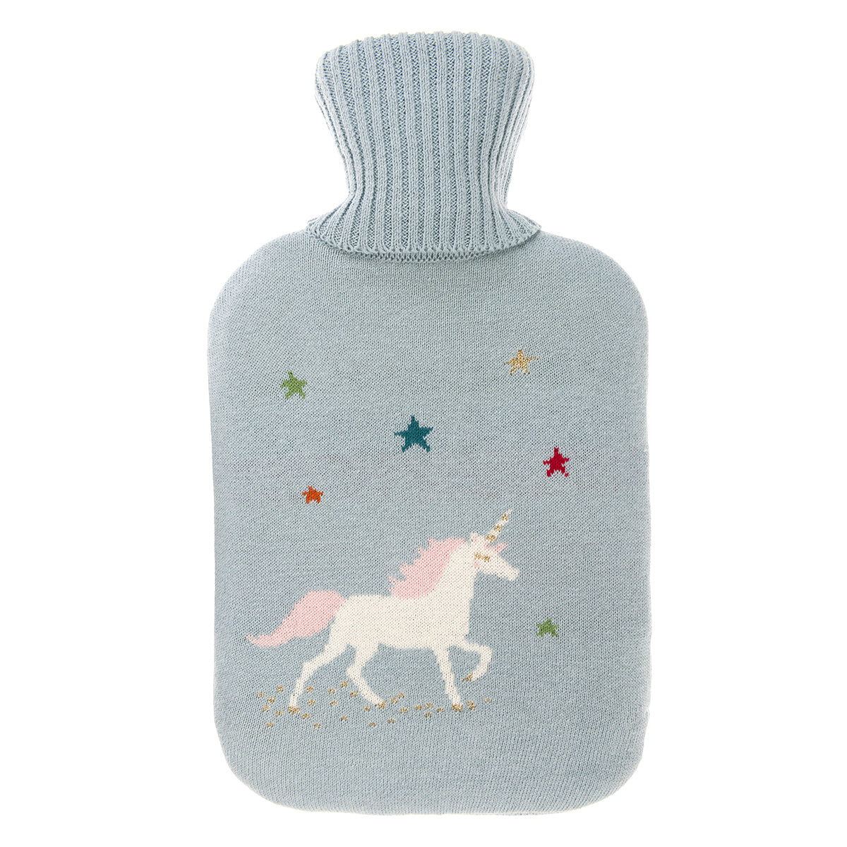 Unicorn Knitted Hot Water Bottle