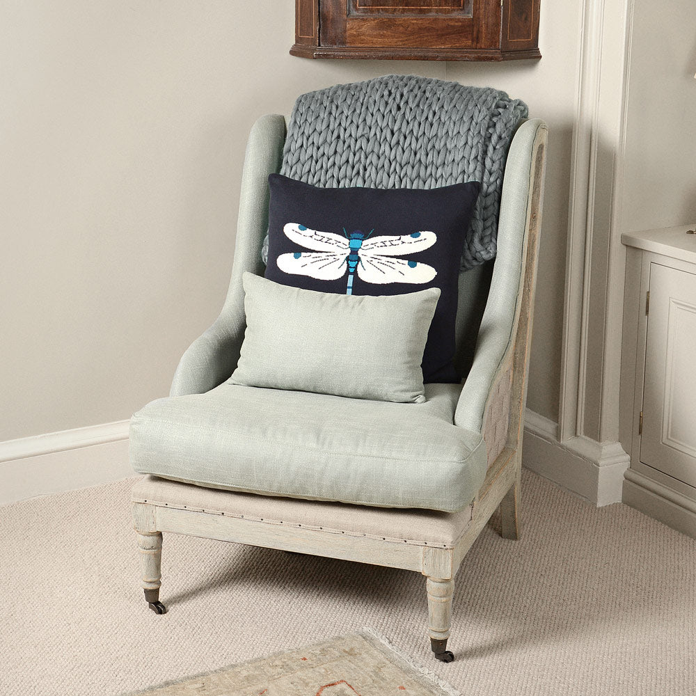 Dragonfly Knitted Statement Cushion
