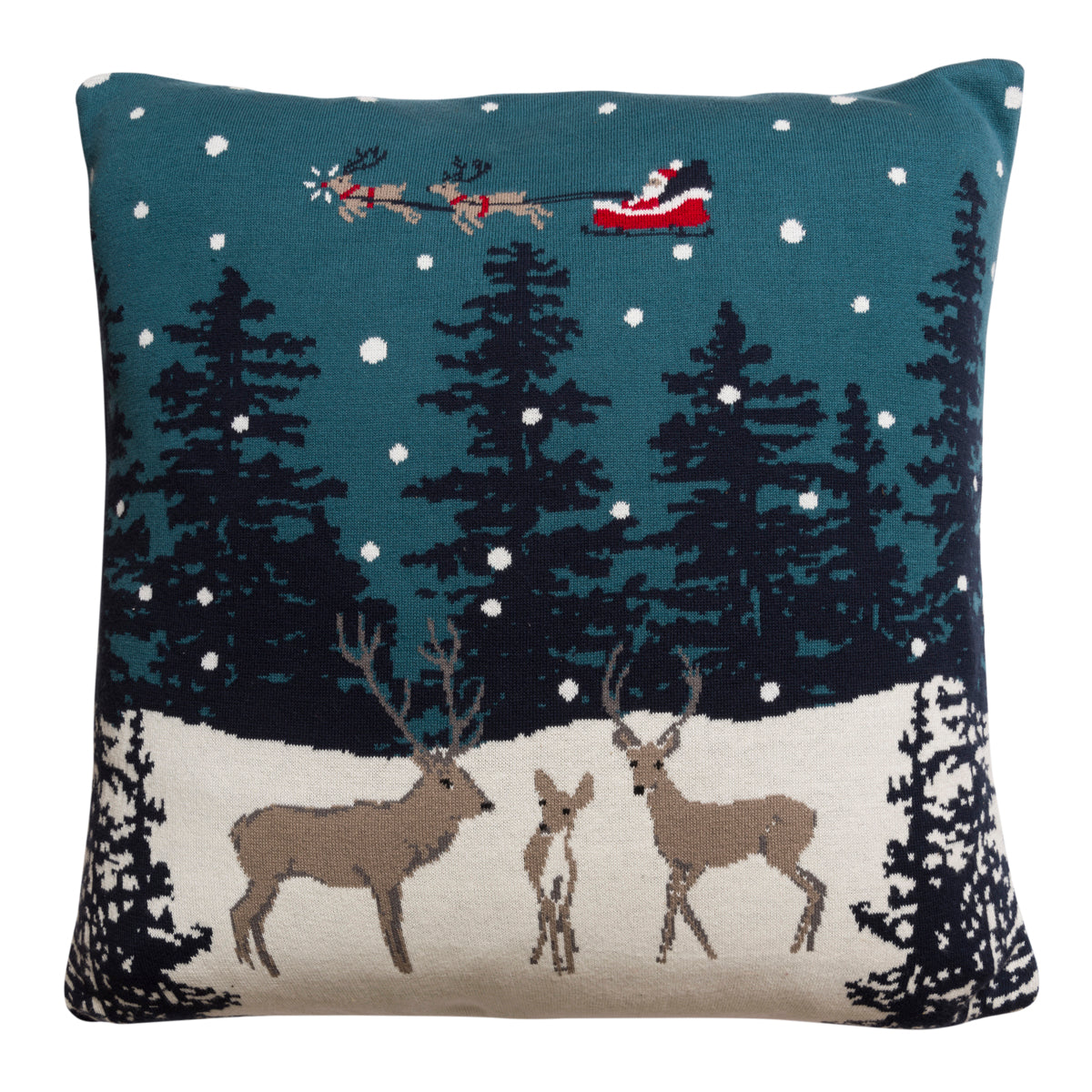 Home for Christmas Knitted Cushion
