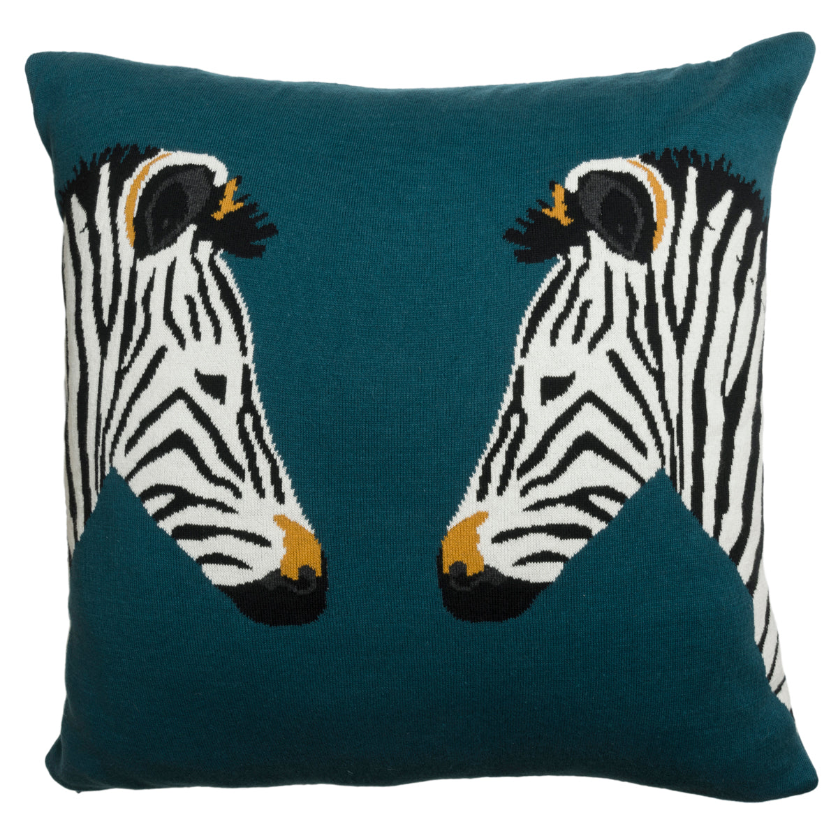 Zebra Knitted Cushion