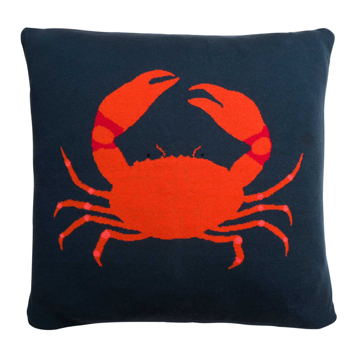 Crab Knitted Cushion