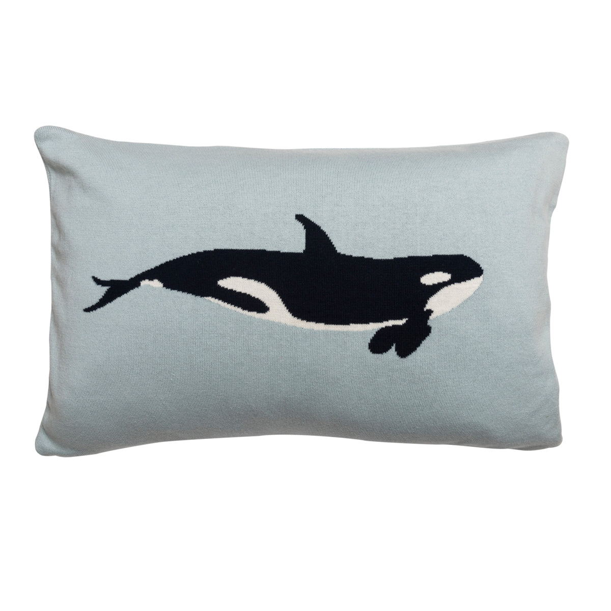 Whales Knitted Cushion
