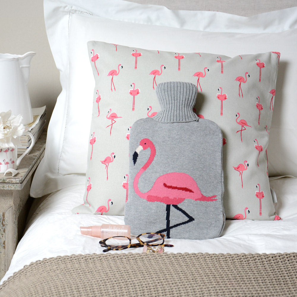 Flamingos Hot Water Bottle