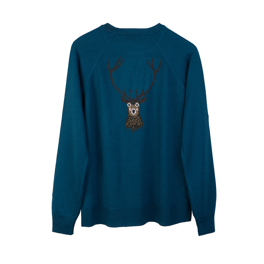 Highland Stag Knitted Jumper