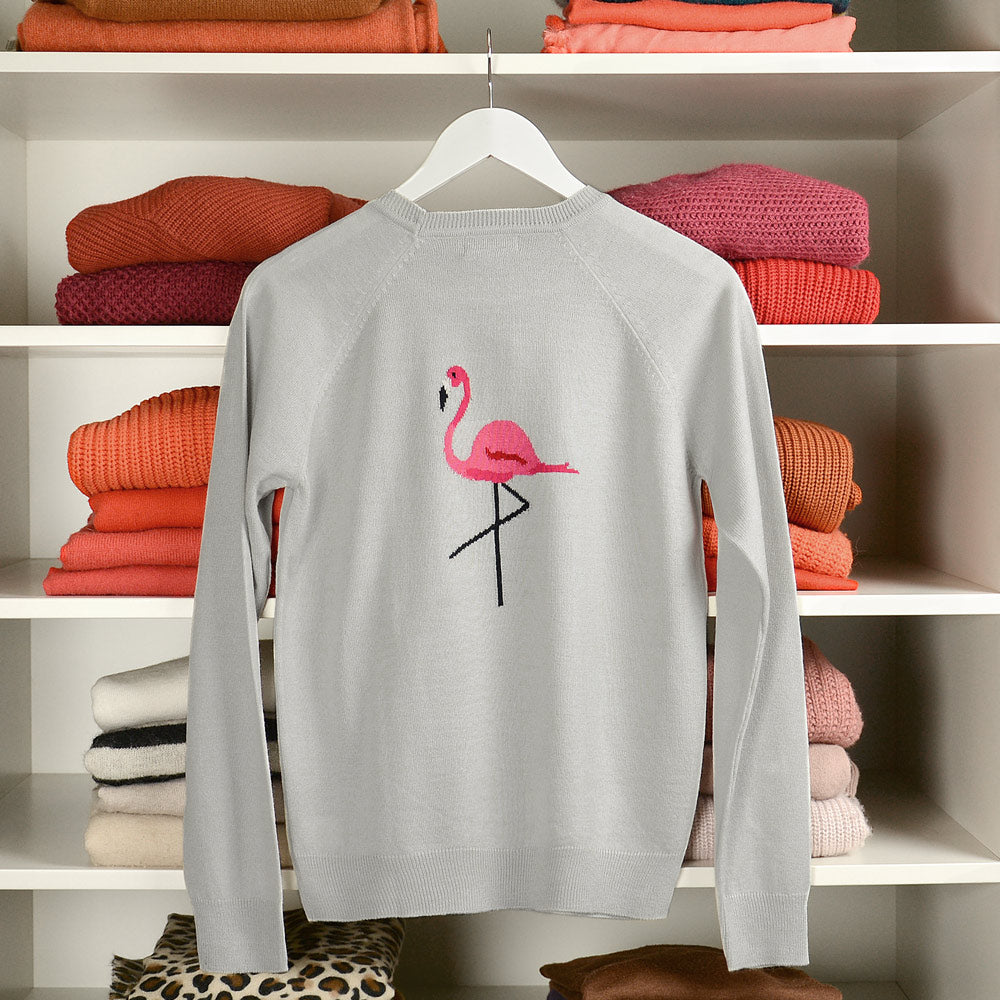 Flamingos Knitted Jumper