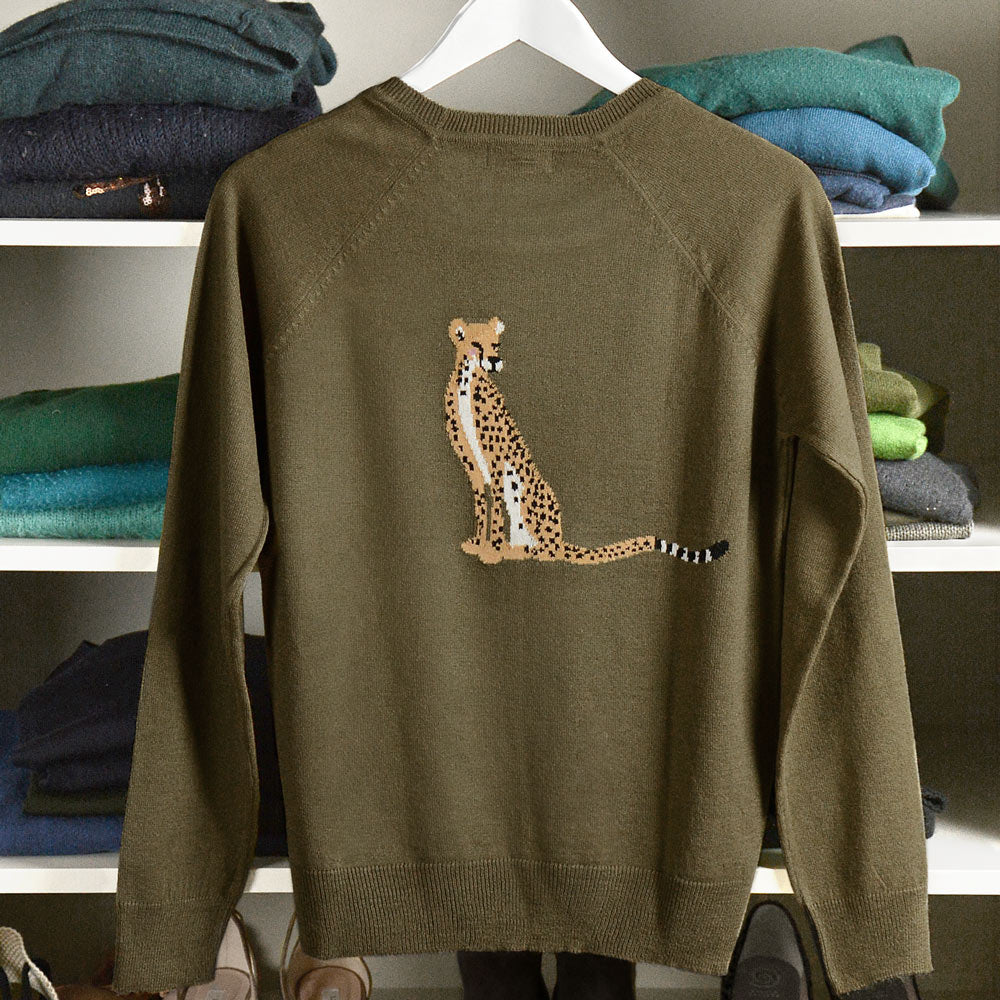 Cheetah Knitted Statement Jumper