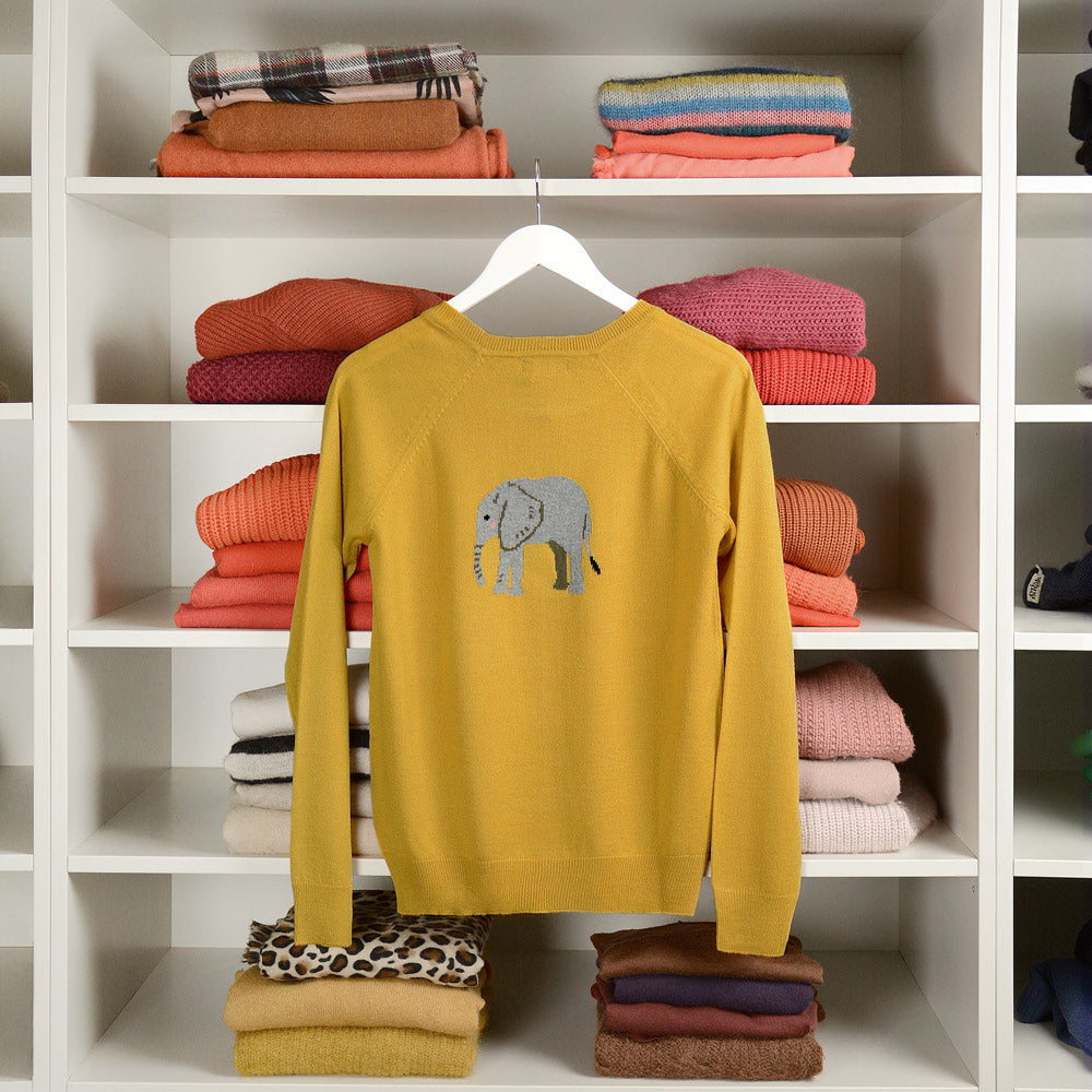 Elephant Knitted Statement Jumper