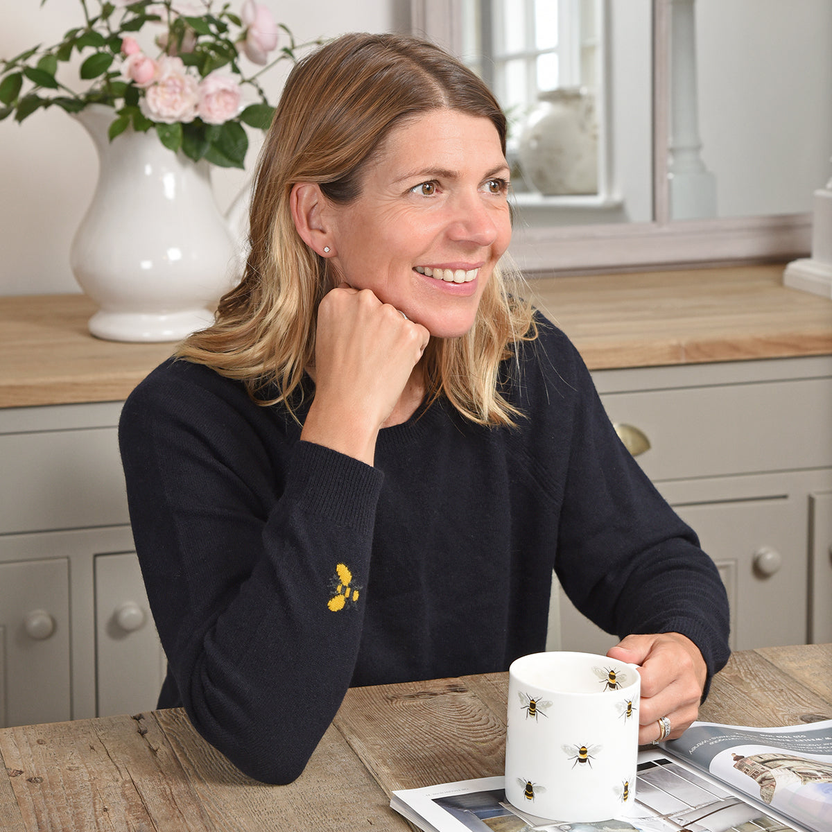 Bees Cashmere Jumper