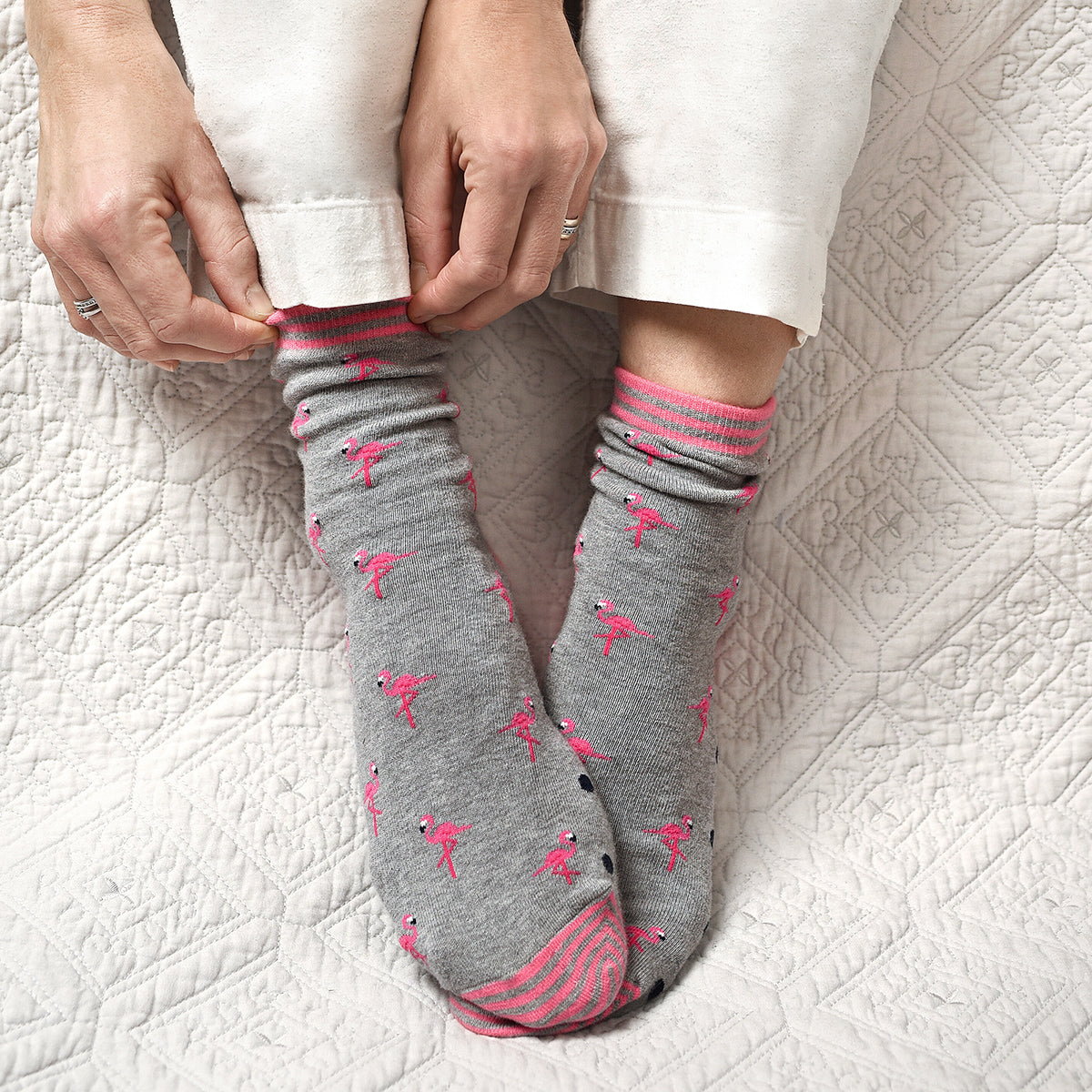 Flamingo Womens Socks by Sophie Allport