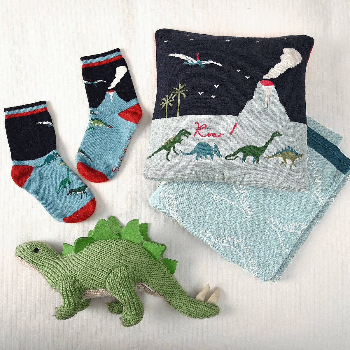 Kids Dinosaurs Cushion by Sophie Allport