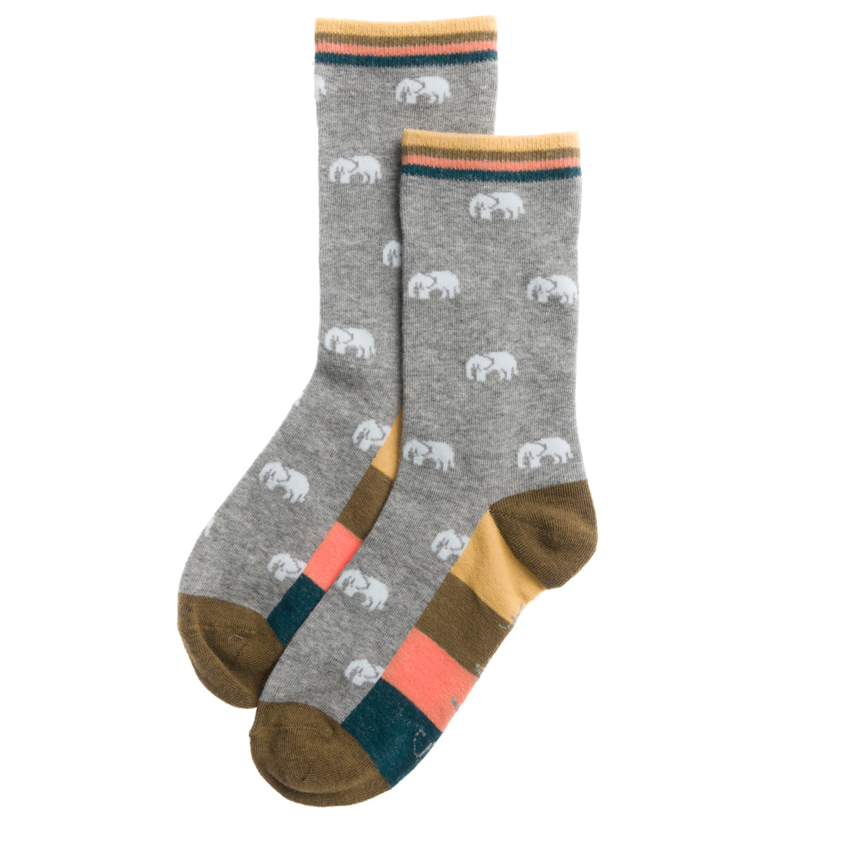Elephant statement socks by Sophie Allport