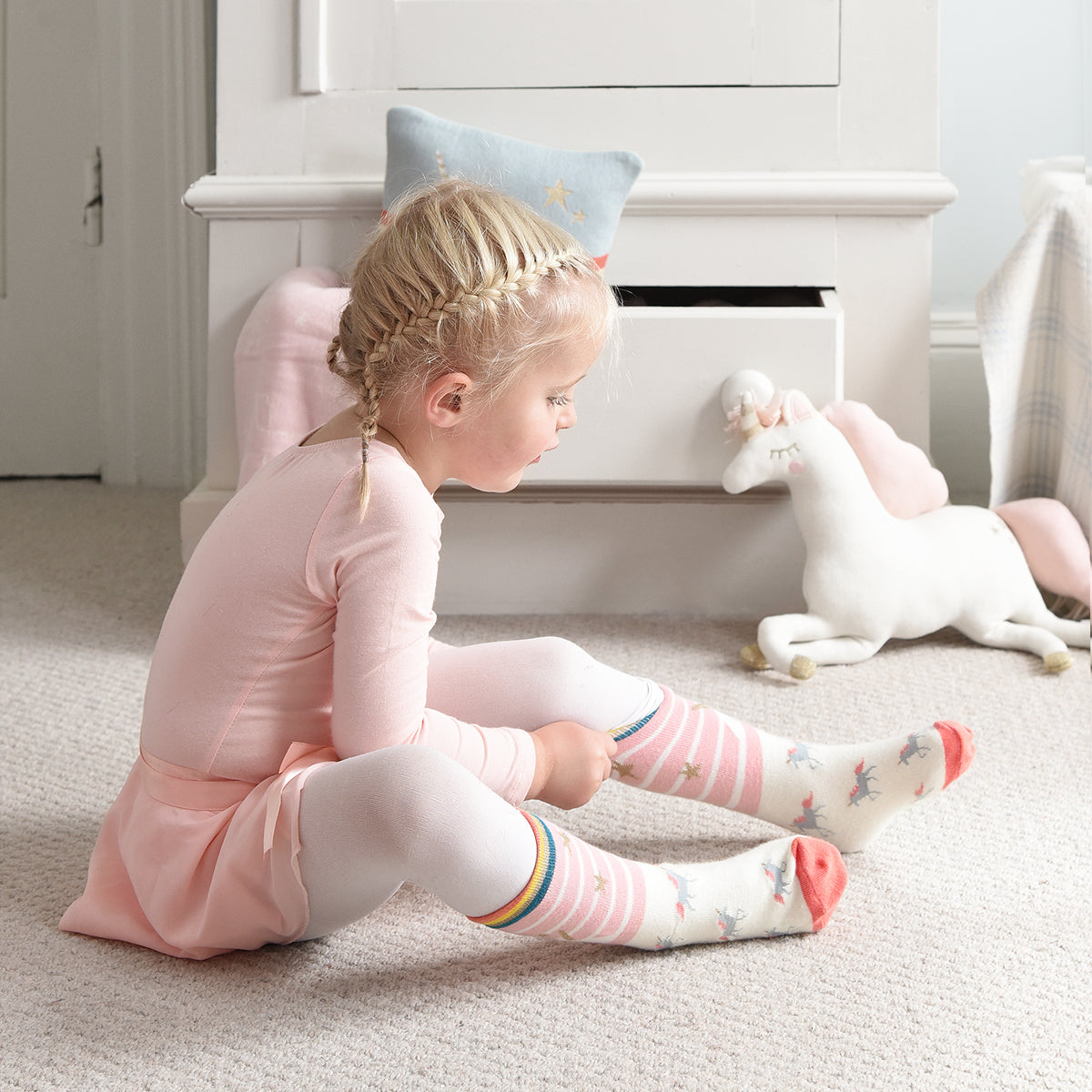 Unicorn Kids Socks by Sophie Allport