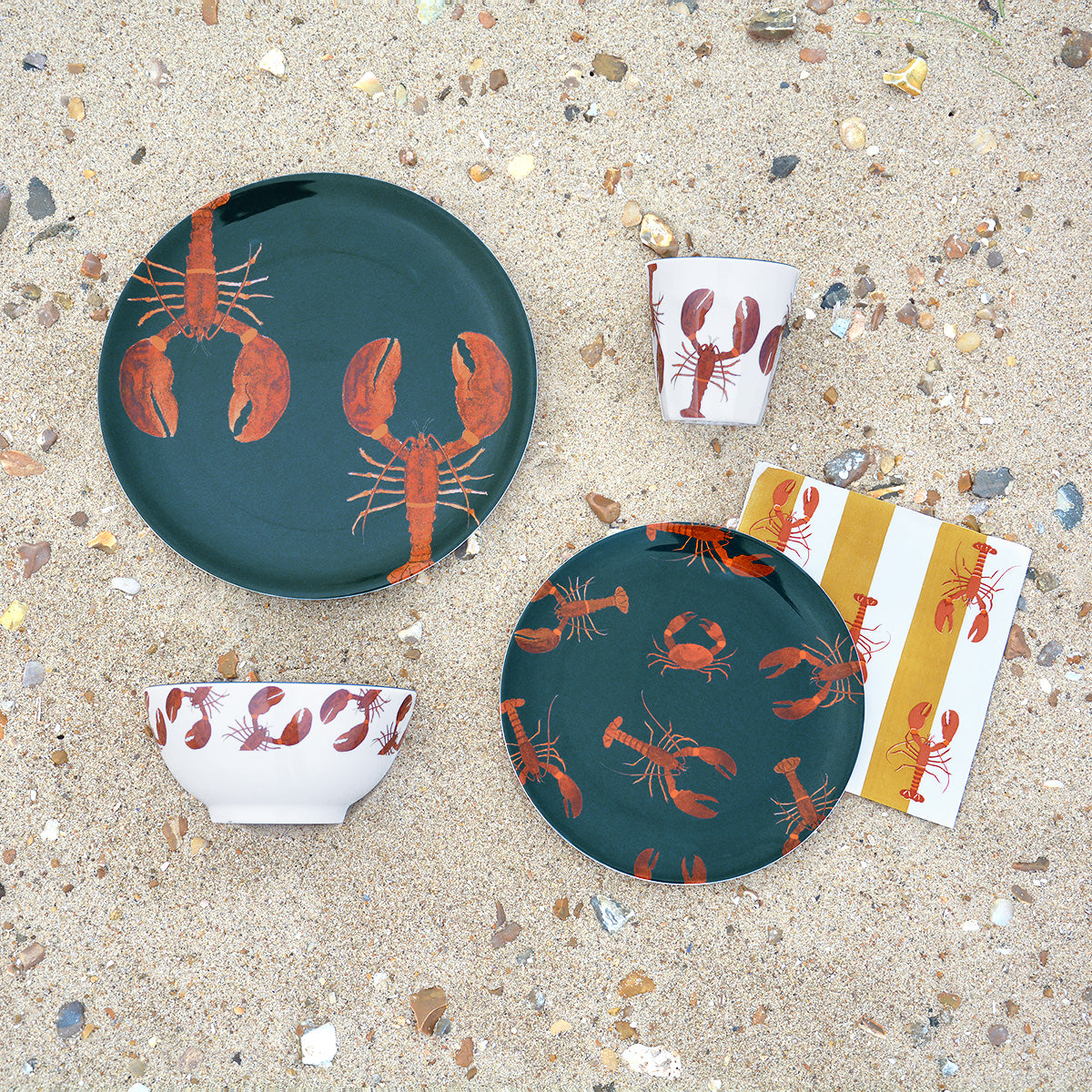 Lobster Melamine Side Plate by Sophie Allport