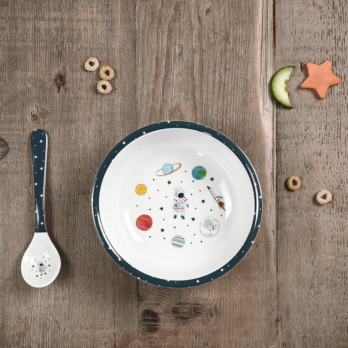 Space Childrens Melamine Baby Bowl