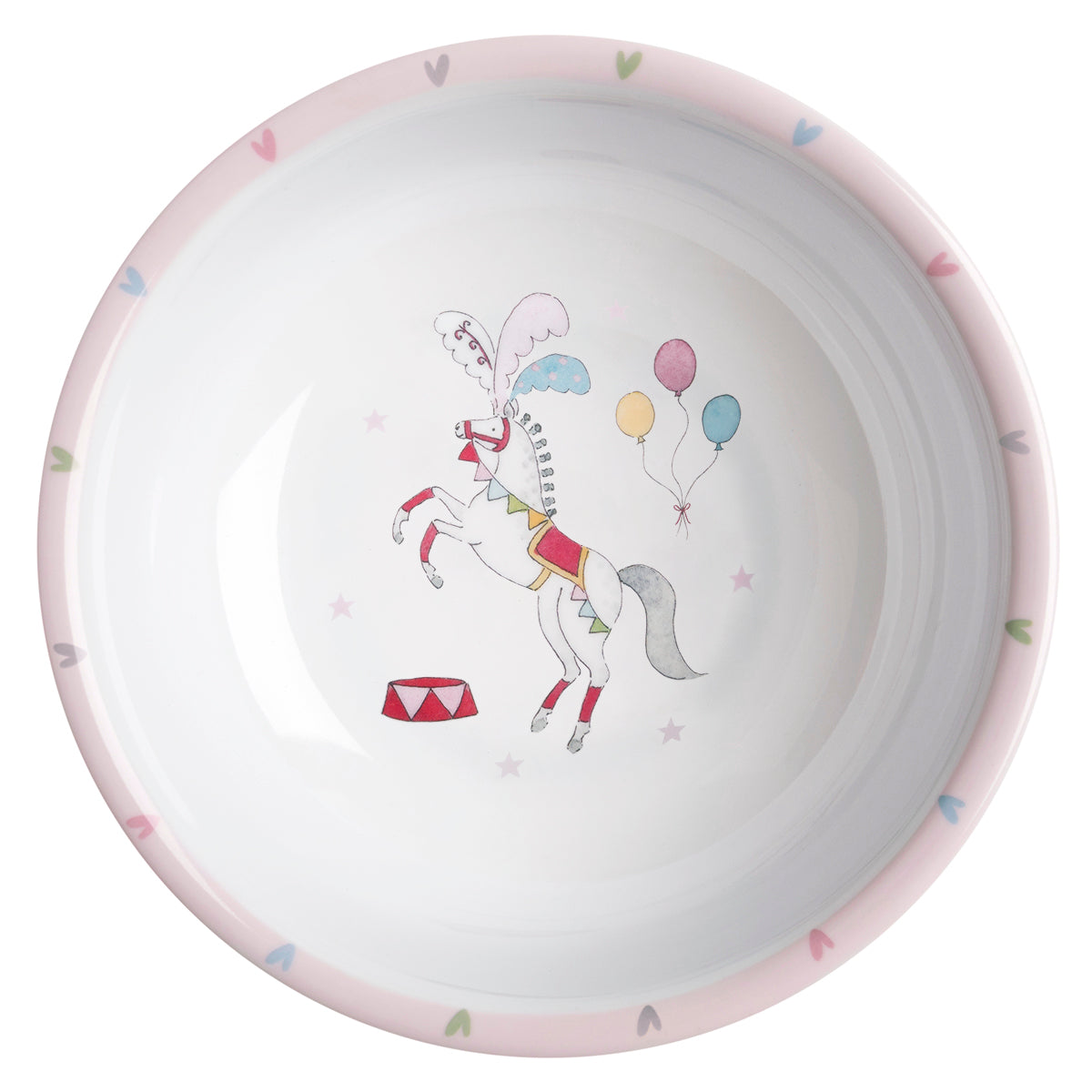 Fairground Ponies Childrens Melamine Bowl by Sophie Allport