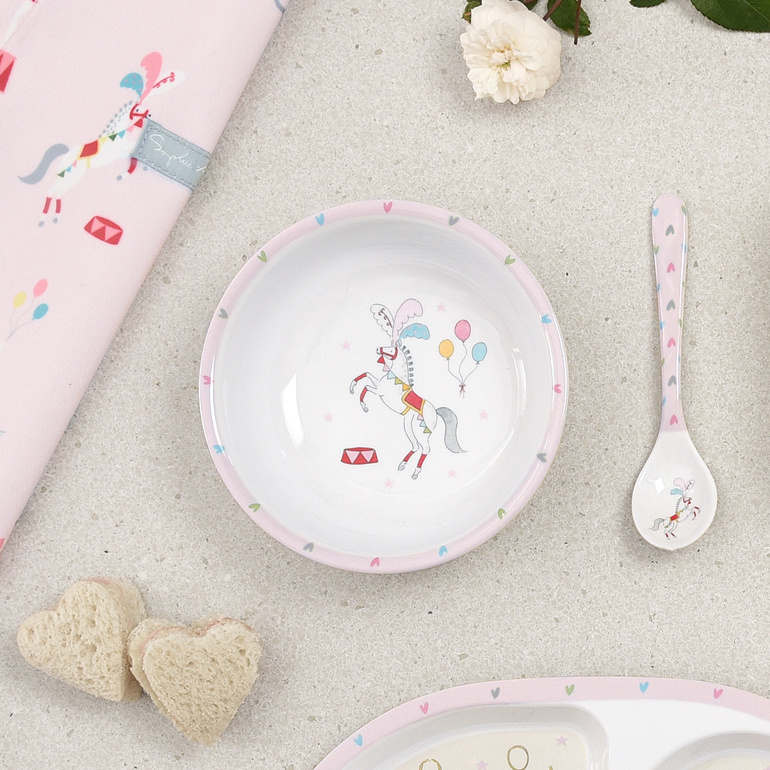 Fairground Ponies Childrens Melamine Baby Spoon