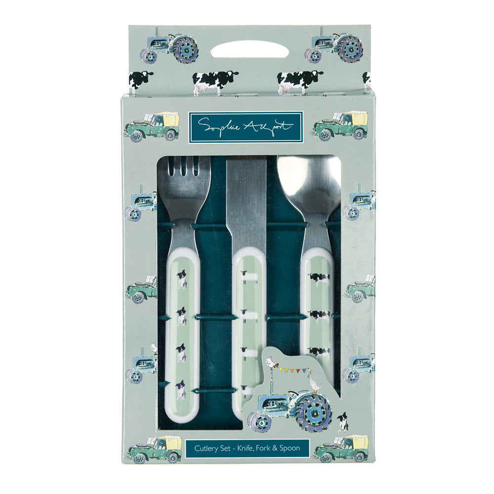On The Farm Childrens Melamine Cutlery Set