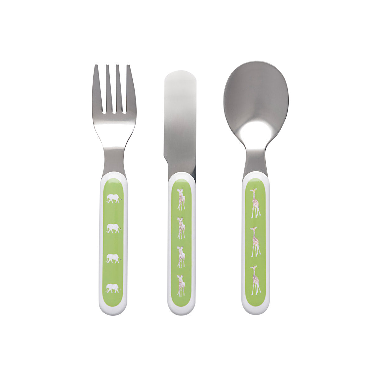 Safari Childrens Melamine Cutlery Set