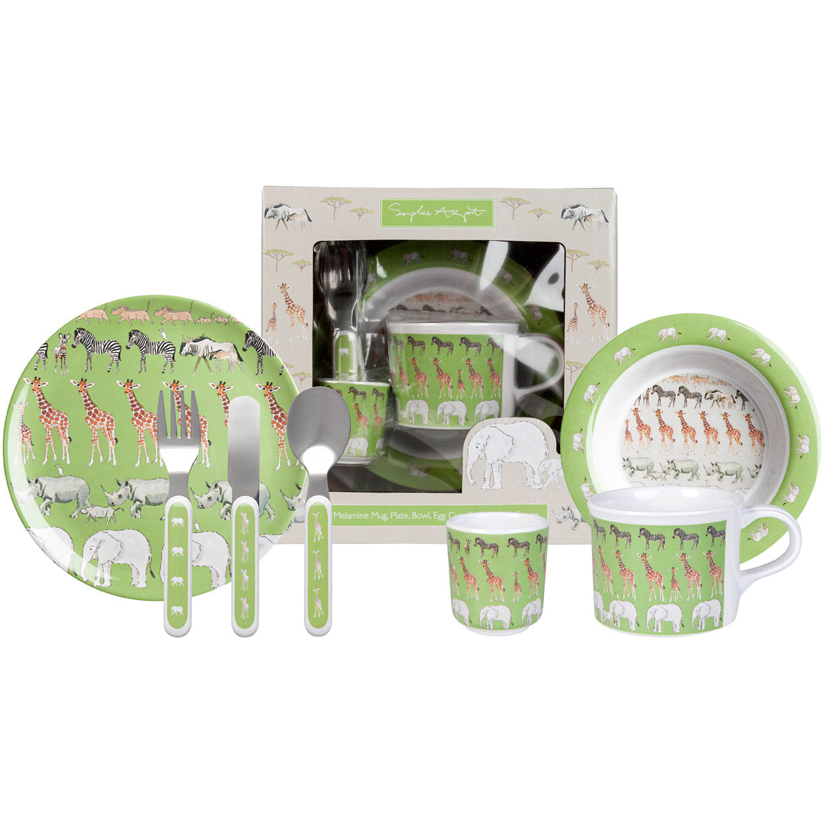 Safari Kids Melamine Dinner Set