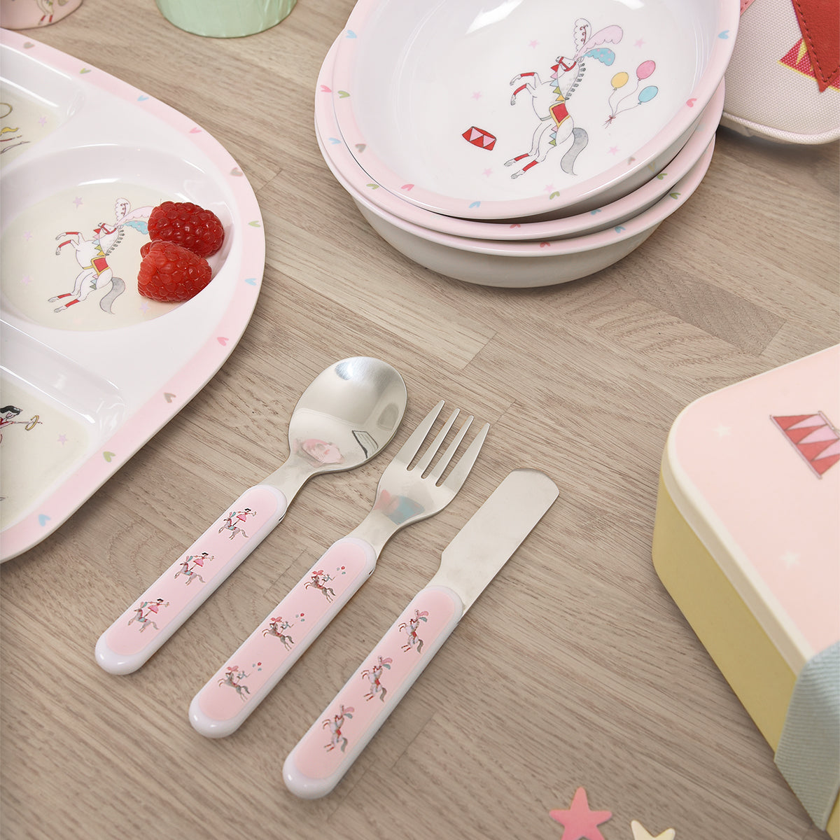 Fairground Ponies Childrens Melamine Cutlery Set
