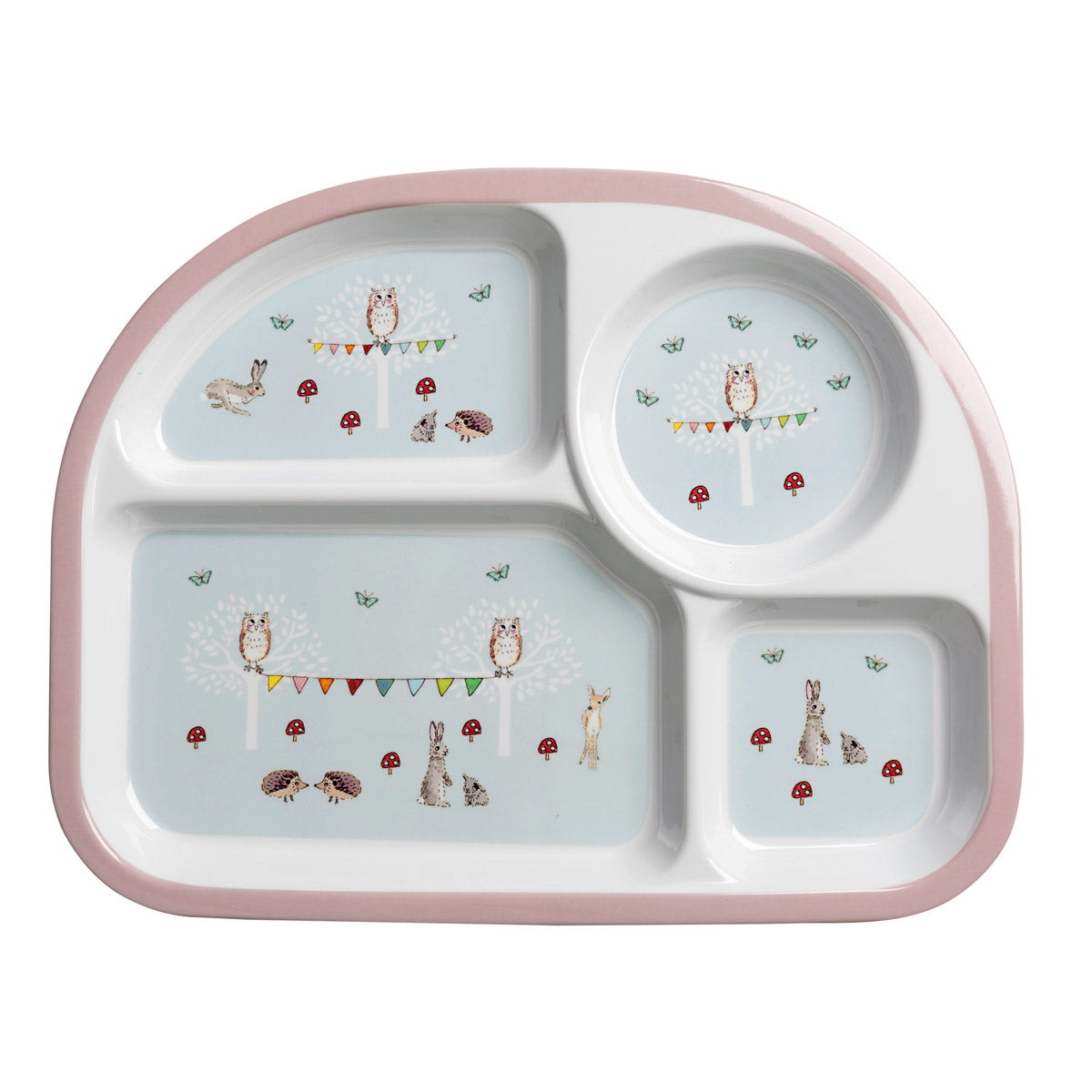 Woodland Party Children's Melamine Divider Plate