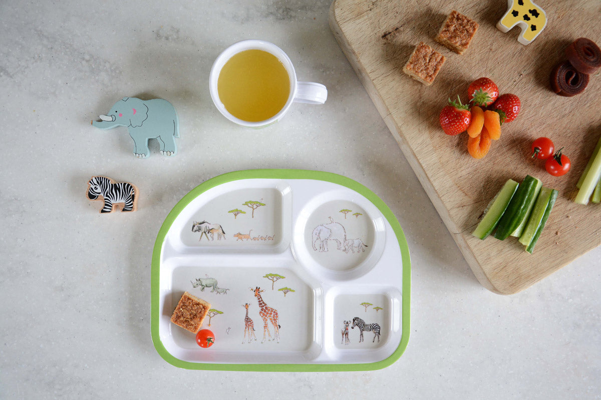Safari Children's Melamine Divider Plate