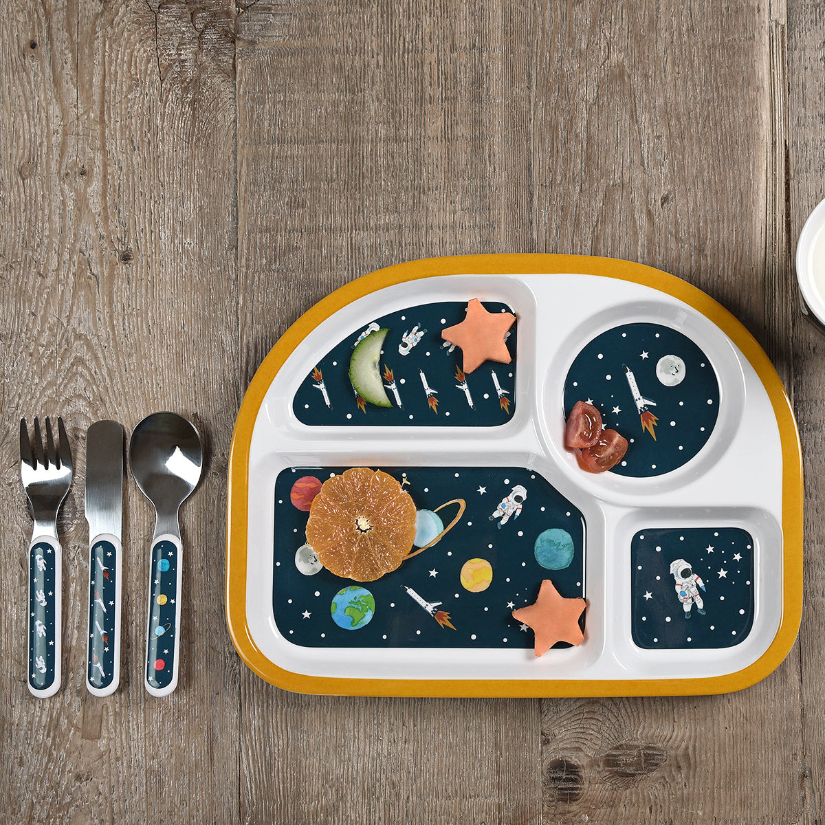 Space Childrens Melamine Cutlery Set