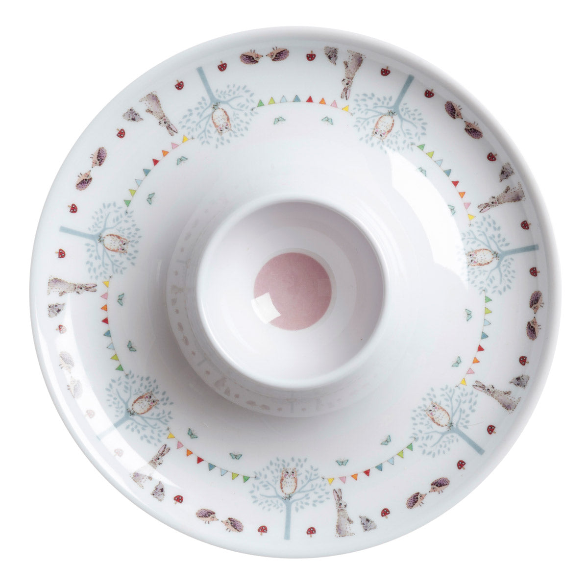 Woodland Party Kid's Melamine Egg Cup Saucer