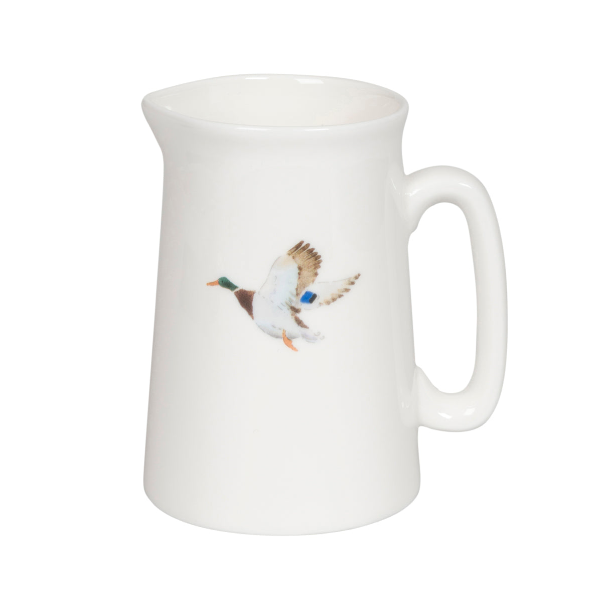 Small fine bone china jug with duck illustration