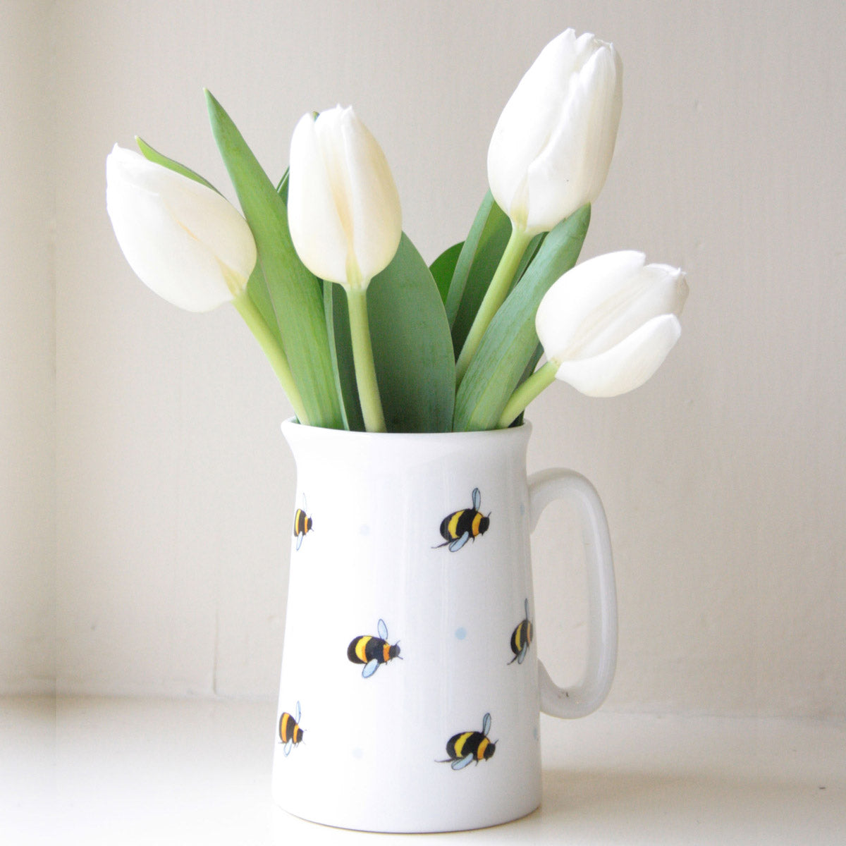 Busy Bee Jug - White