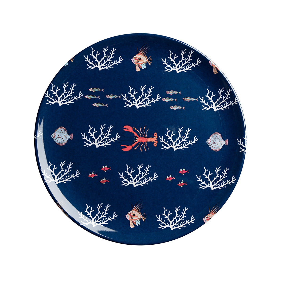 What a catch melamine plate