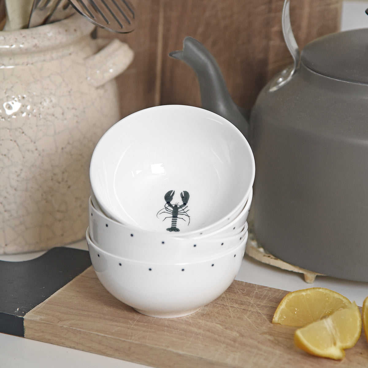 Fine bone china Lobster Nibbles Bowl by Sophie Allport