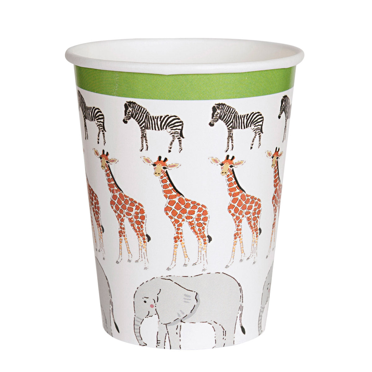 Safari Paper Cups - Pack of 8
