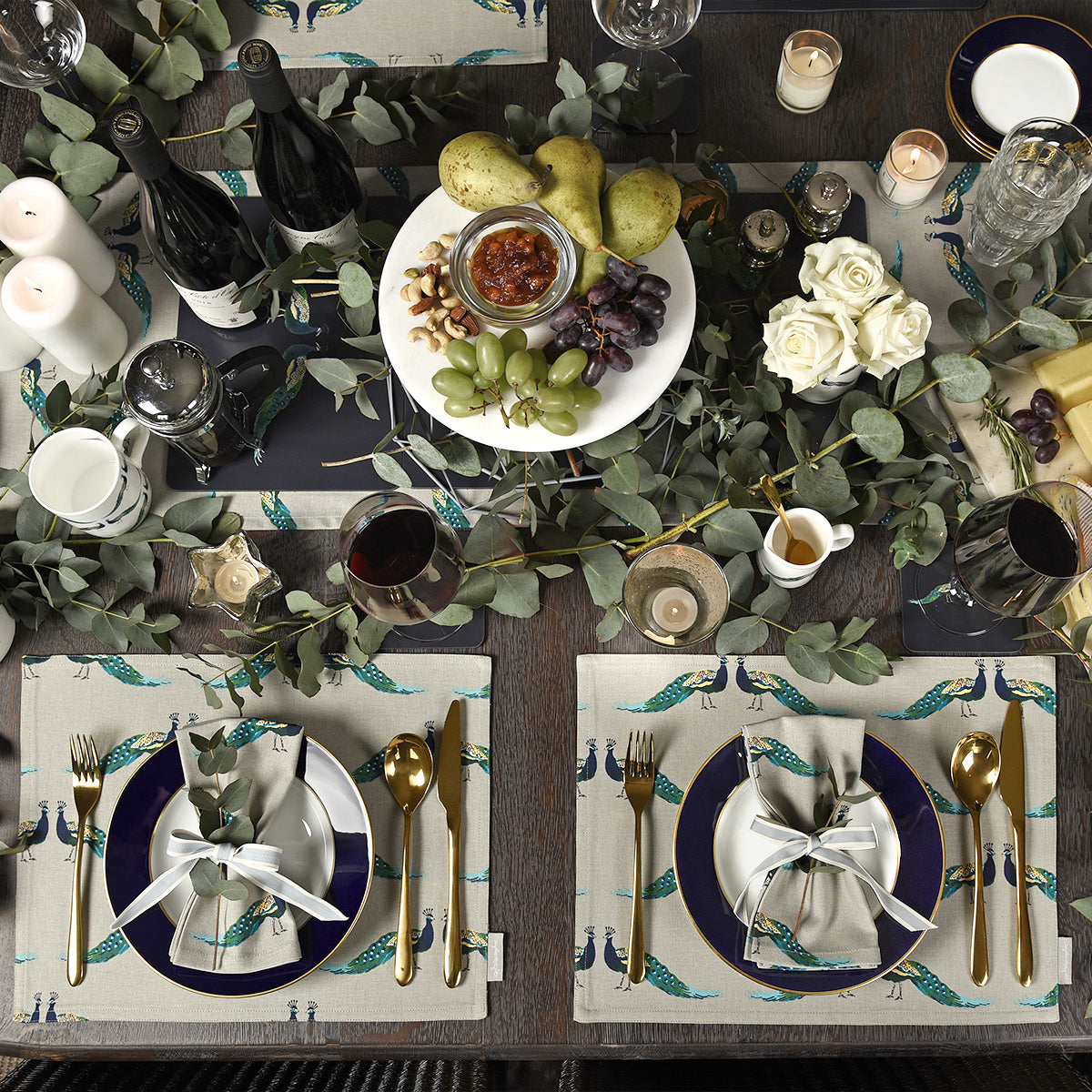 Peacocks Table Runner