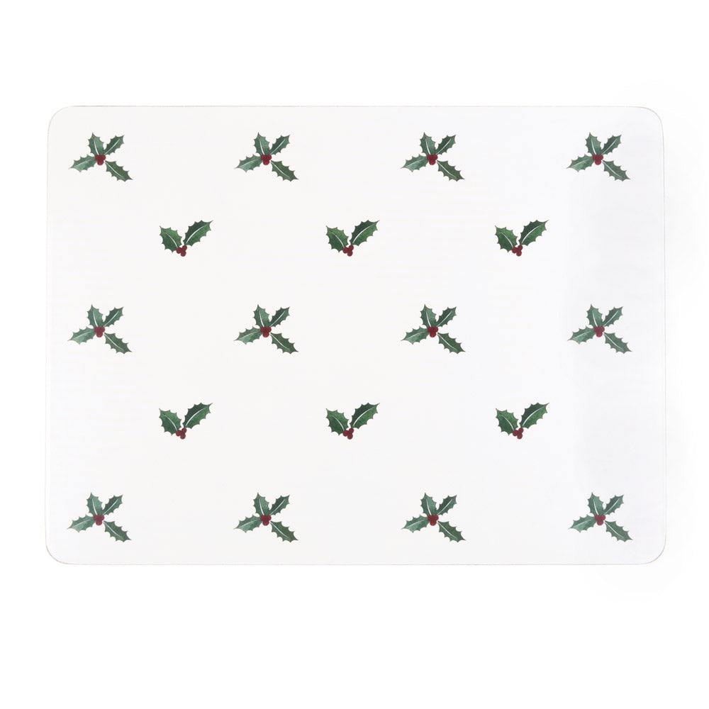 Holly & Berry Placemats (Set of 4)