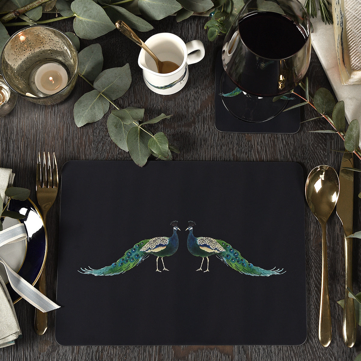 Peacocks Placemats (Set of 4)