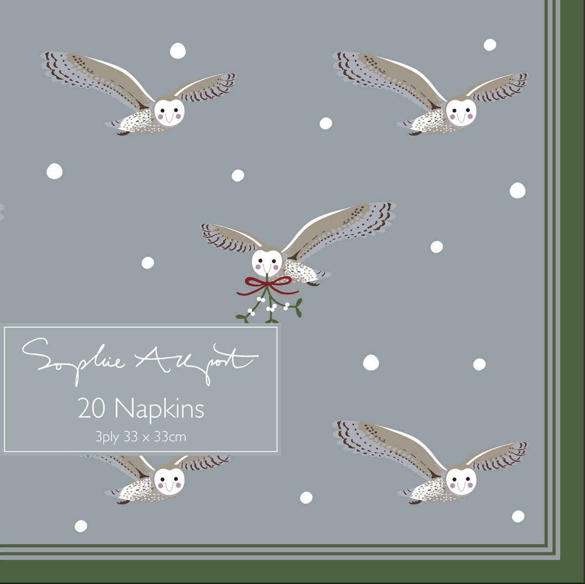 Night Owl Paper Napkins (Pack of 20)