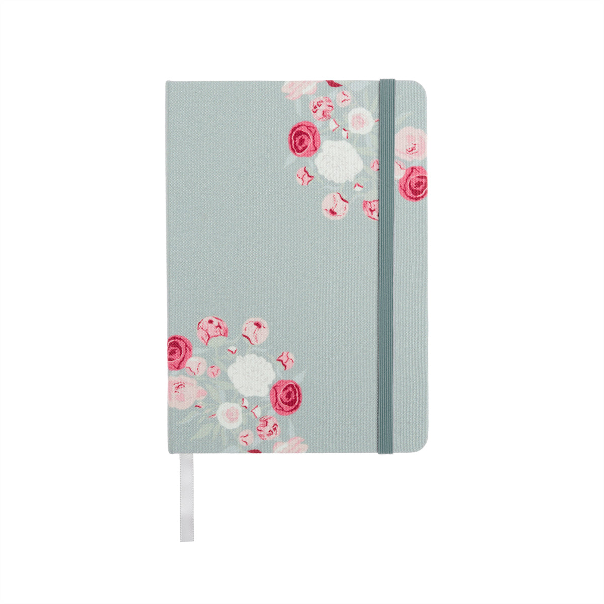 Peony Small Fabric Notebook