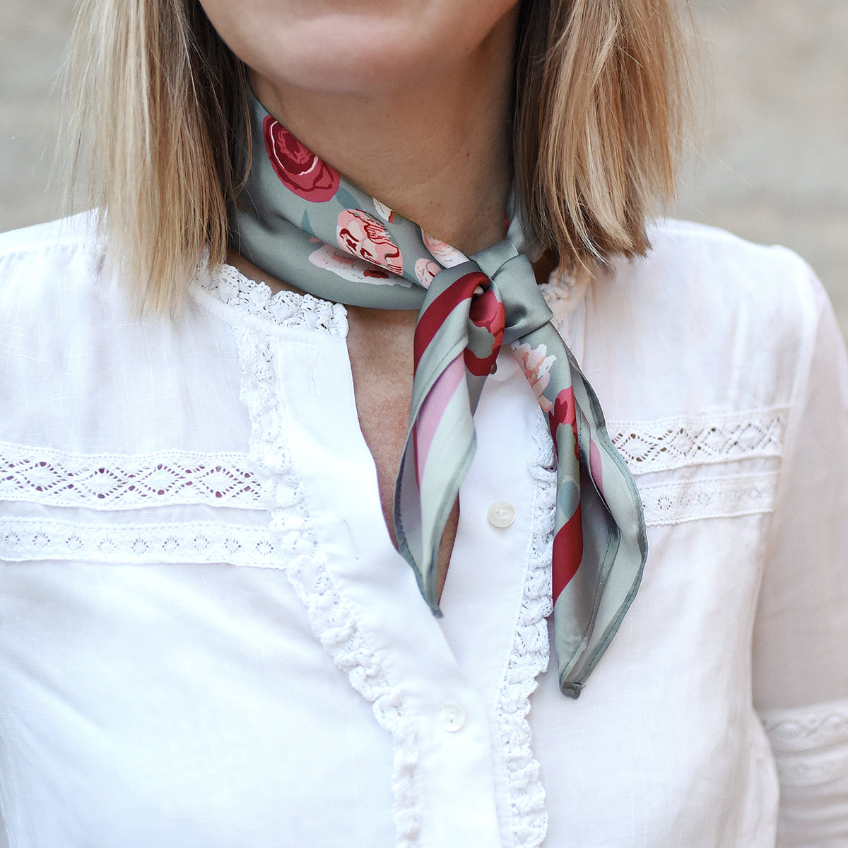 Peony Square Scarf Accessory by Sophie Allport