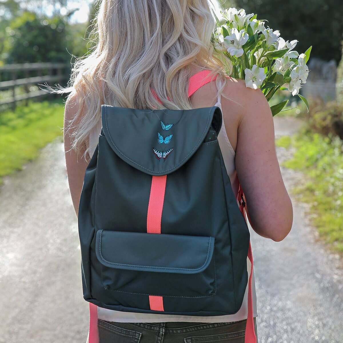 Butterflies Travel Rucksack by Sophie Allport