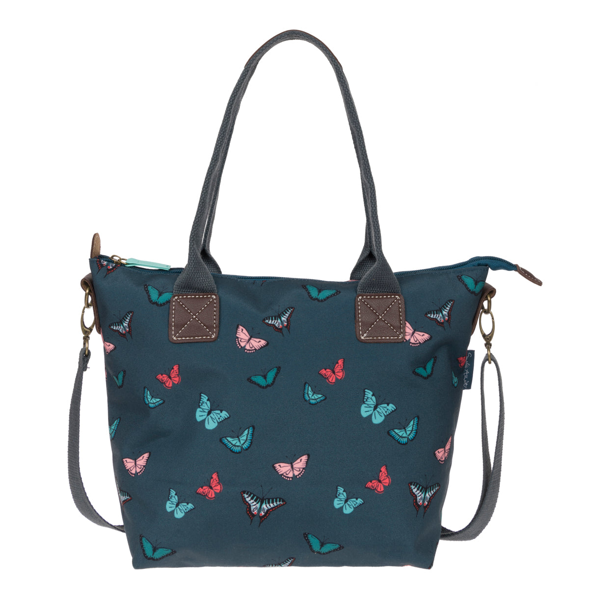 A Blue Butterflies Mini Oundle Bag by Sophie Allport.