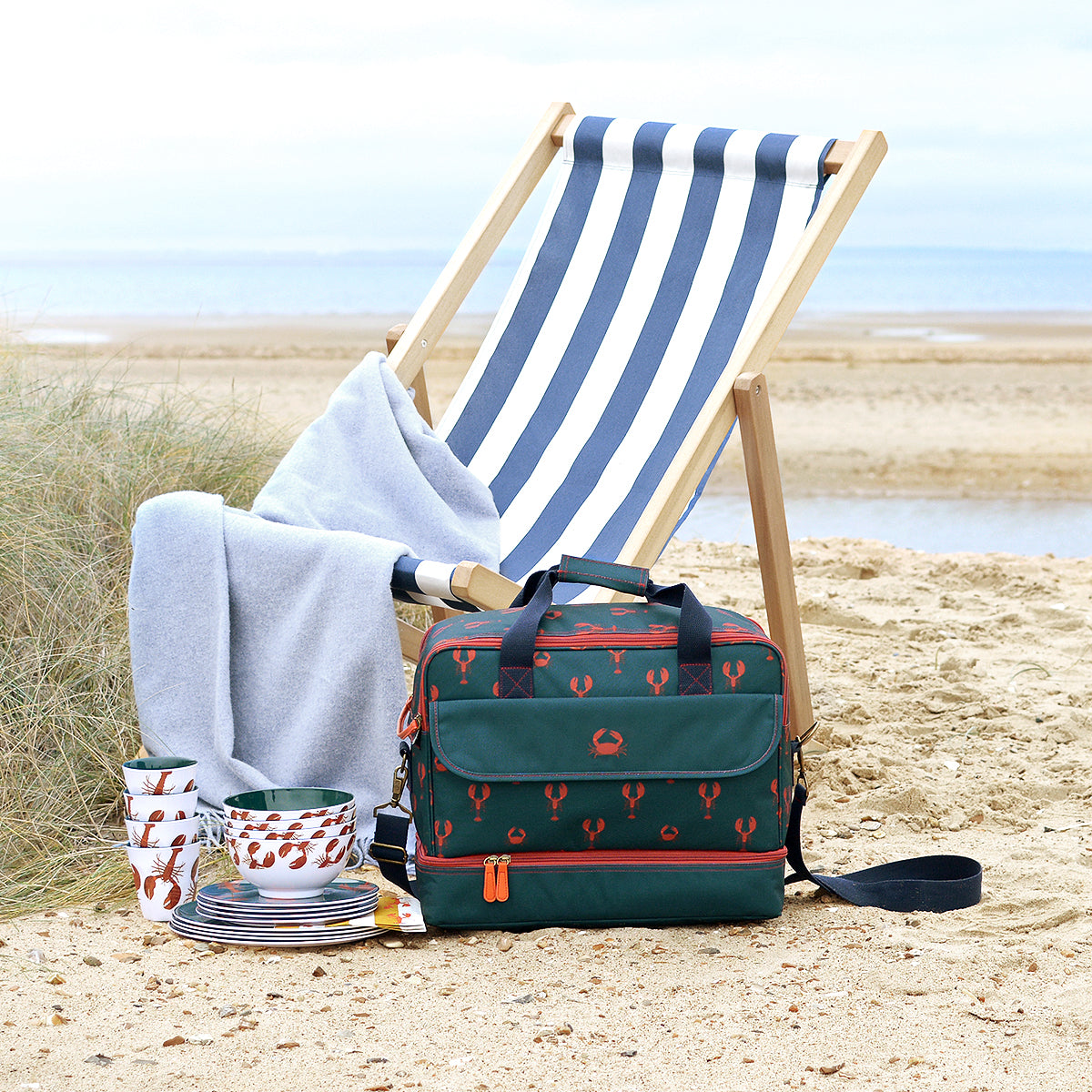 Lobster Summer Picnic Bag by Sophie Allport