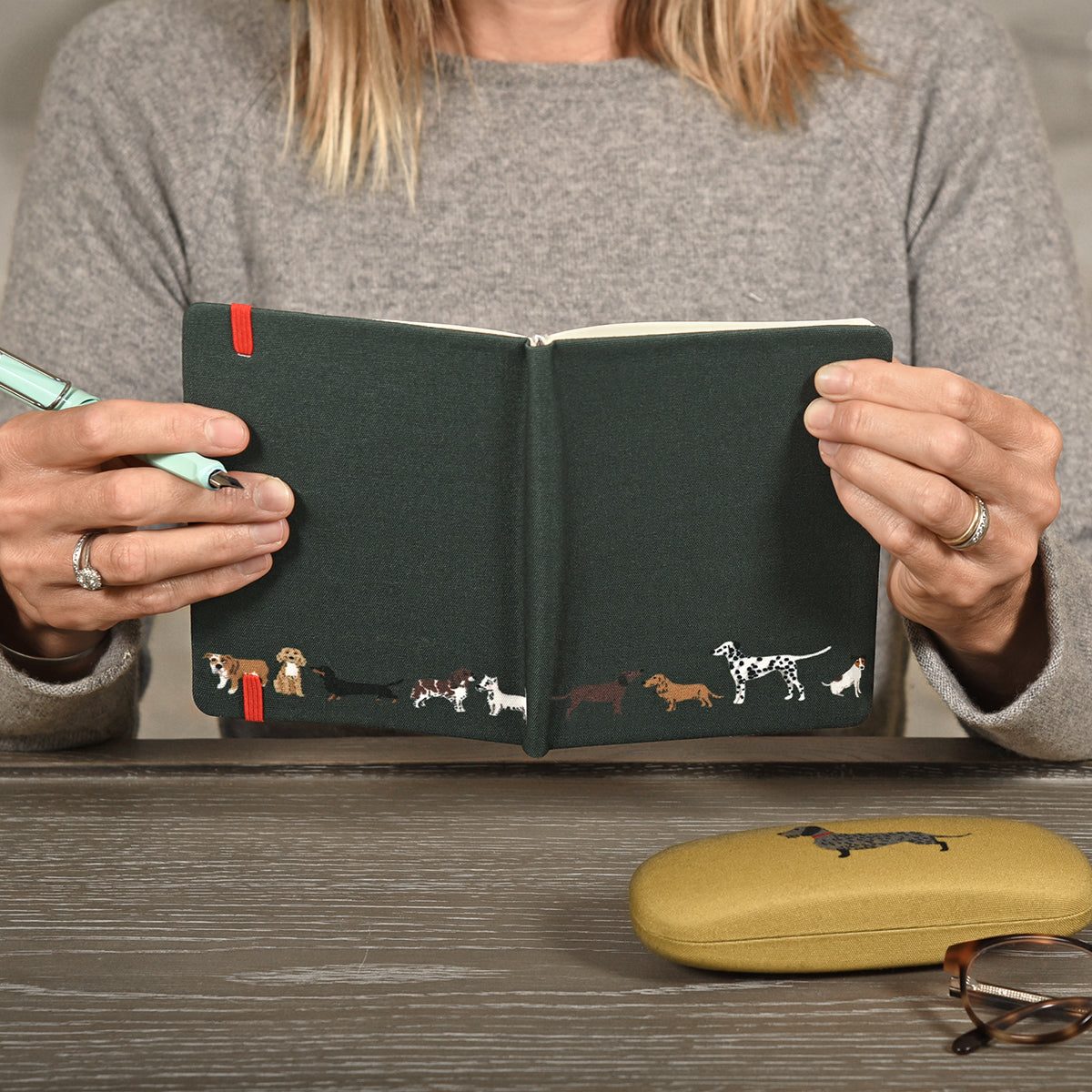Fetch Small Fabric Notebook