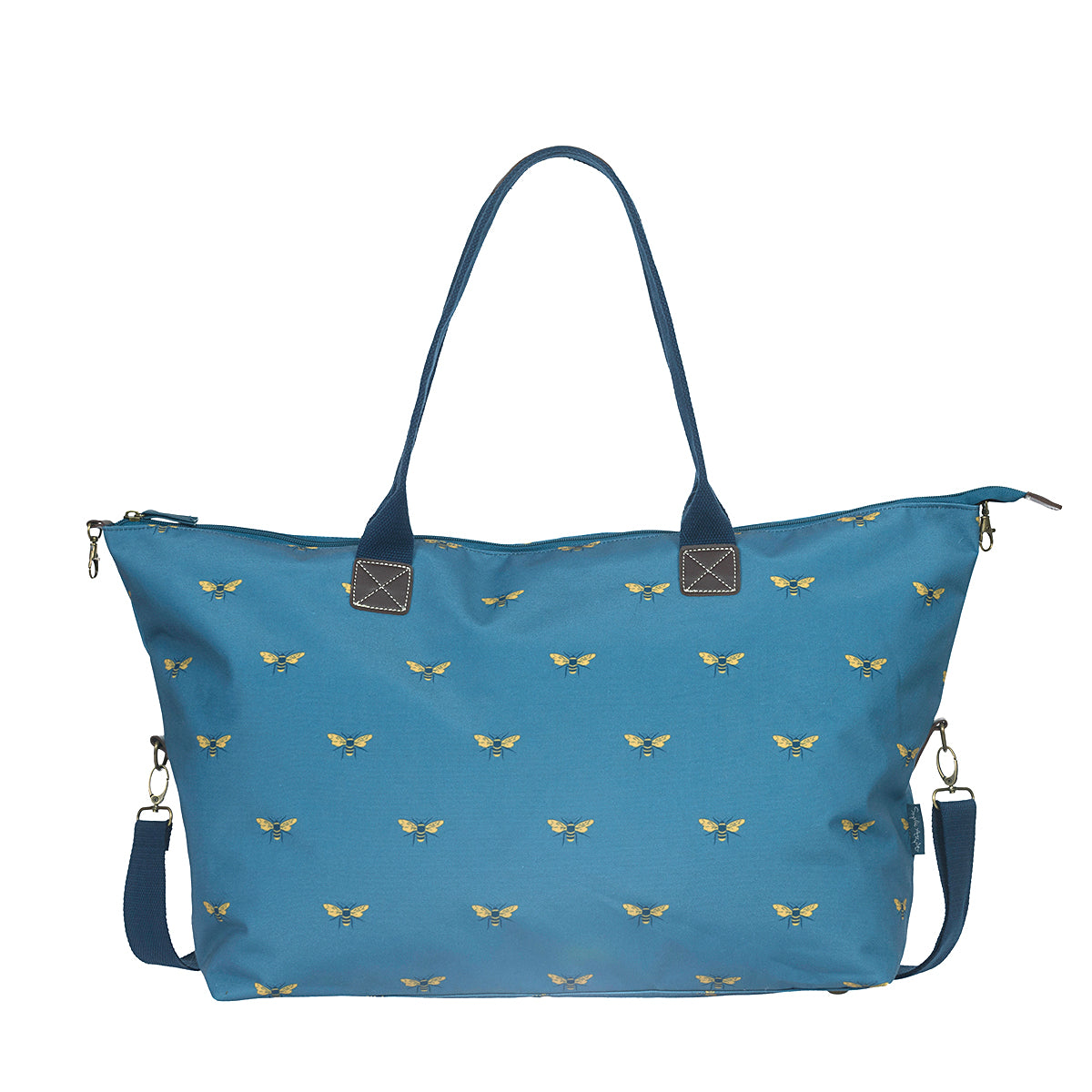 Bees Teal Weekend Oundle Bag by Sophie Allport