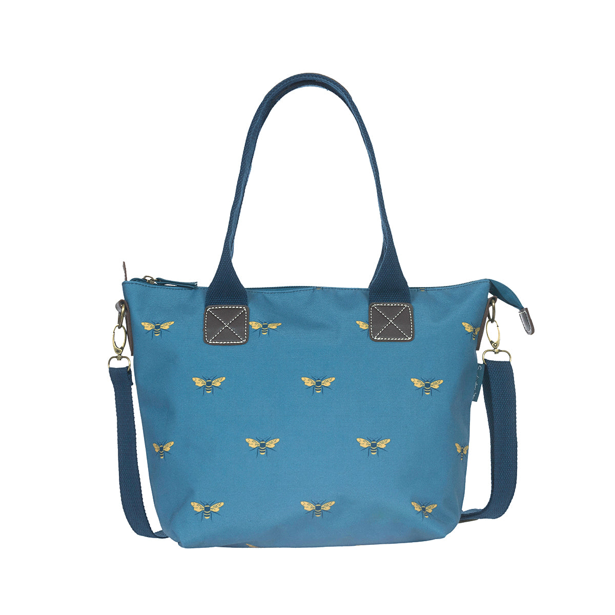 Bees Teal Mini Oundle Bag