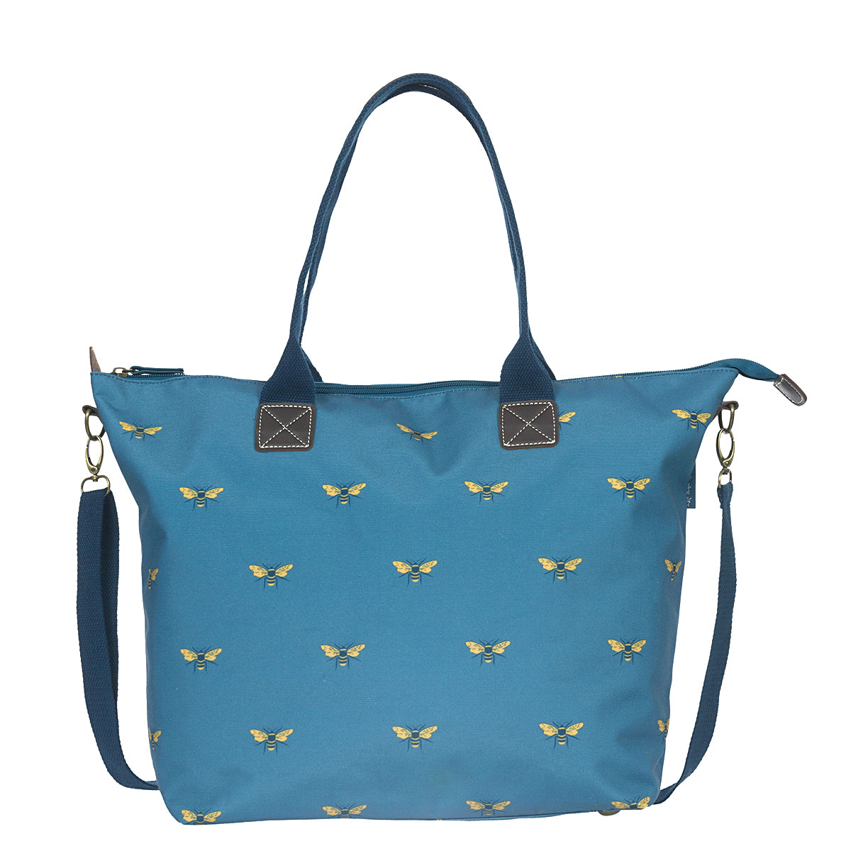 Bees Teal Oundle Bag by Sophie Allport