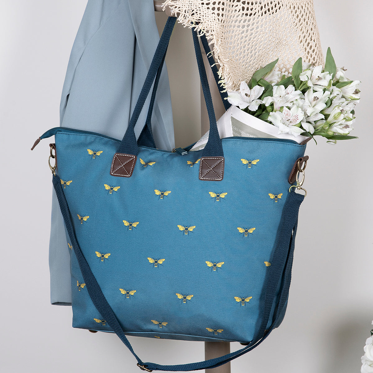 Teal coloured bag, gift idea for her by Sophie Allport