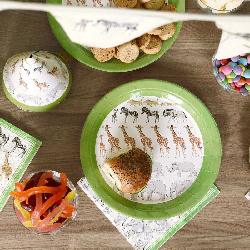 Safari Paper Plates - Pack of 8