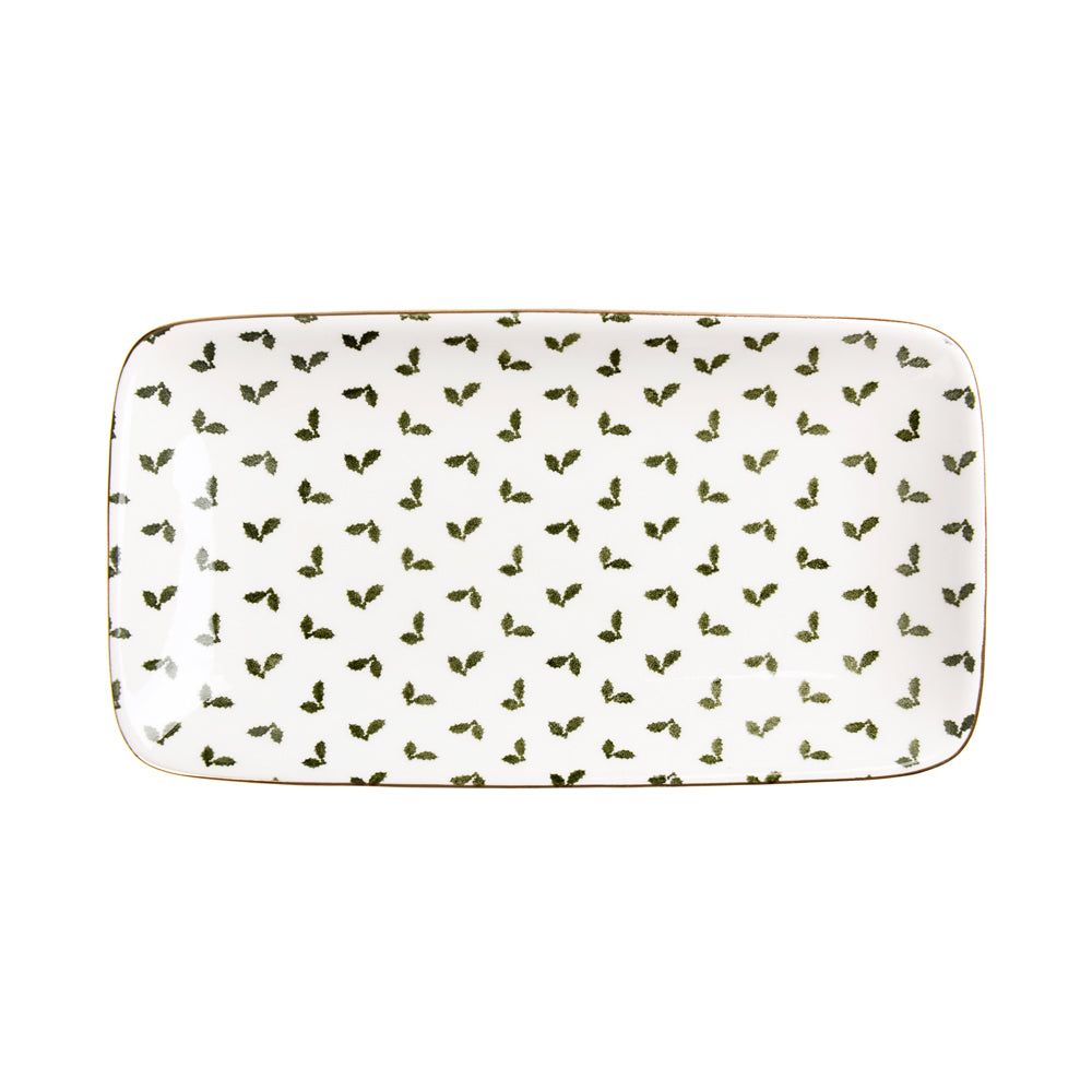 Holly & Berry Rectangular Plate